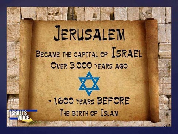 Jerusalem became the capitol of Israel