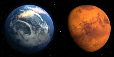 Die Erde und der Mars