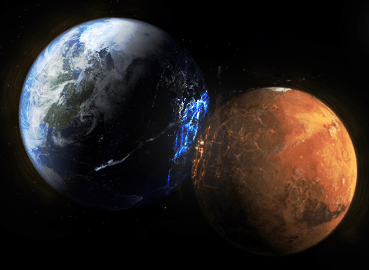 The Earth and the Mars